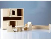 Set mobilier papusi - tip living din lemn natur