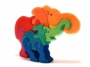 Puzzle lemn Fauna  elefant