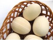 Oua natur din lemn - pentru pictat