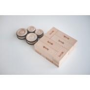brikk - blocuri magnetice din lemn (22 piese)