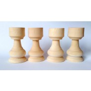 Set figurine lemn cu palarie