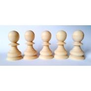 Set figurine omulete mari lemn