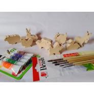 animalute din lemn de pictat
