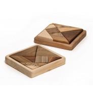 Tangram din lemn cu suport