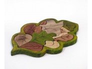 Puzzle frunza de stejar Lemnivor