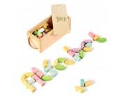 Jucarie blocuri alfabet din lemn