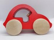 Masinuta din lemn rosie