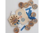 Bufnita pentru prichindei - albastru - joc de indemanare si asociere
