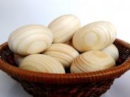 Set 30 oua natur din lemn de brad