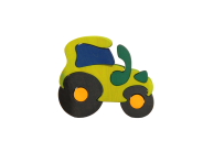 Puzzle lemn fauna tractoras